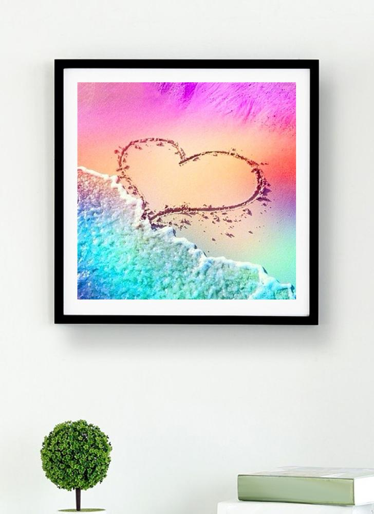 DIY 5D Diamond Painting Landscape Heart Sand Beach Full Crystal Diamond Painting Acupuncture Home Decoration