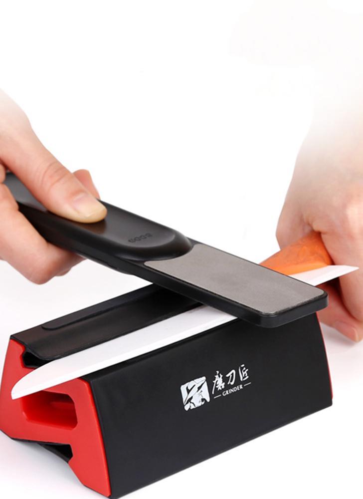 MEULEUSE Fine / grossière Combinaison Double Côtés Couteau Aiguiseur Portable Fine et grossier Couteau Affûtage Outil