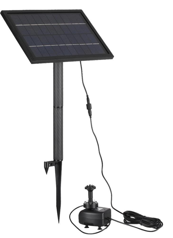 Anself 10V 5W Solarbetriebene Brushless Wasserpumpe Integriertes Speicherbatterie Tauchpumpe Brunnen Gartenteich 200L / H Aufzug 150cm