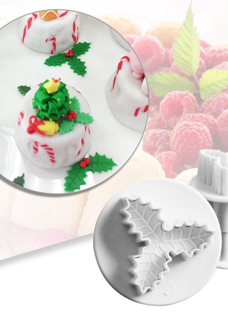 Facemile 2pcs Leaf Plunger Cutter Triangular Leaves Fondant Cookie Cake Decor Sugarcraft Plunger Mold Baking Tool