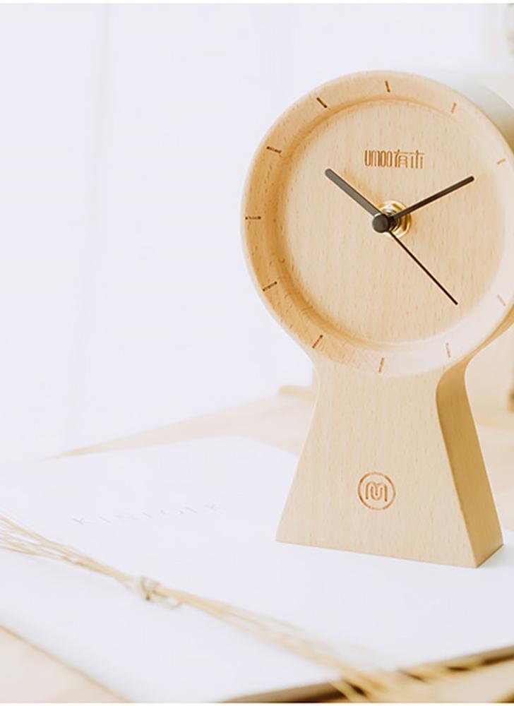 Meki Handgefertigt Buchenholz Umweltfreundliche Material Sunny Clock Stille  Nicht Tickende Hölzerne Uhr Für Office Home Schlafzimmer