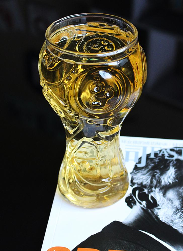 World-Cup Design Glass Cup Drinking Glasses Glassware Drinkware Transparent Personality Heat Resistant for Beer Wine All Beverage