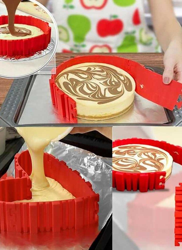 4pcs Snake Food Grade Silicone Cake Mold Magic Bake Mould Tools Stitch Any Shape DIY All Kinds of Baking Cake