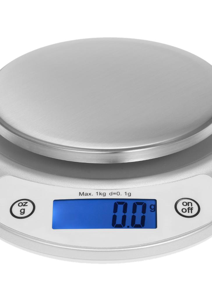 1kg / 0.1g Präzise Küchenwaage Hochpräzise Taschenwaage Tragbare elektrische Küchenwaage Multifunktionale Skala mit hinterleuchtetem LCD-Display