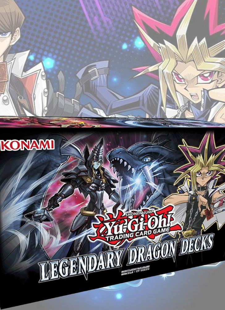 Yu-Gi-Oh Legendary Dragon Decks Sealed Box Illustrazioni Card