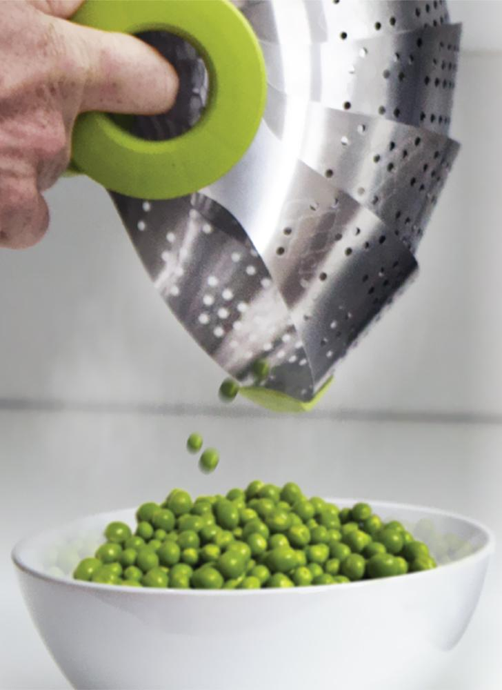 Portable Stainless Steel Collapsible Colander Steamer