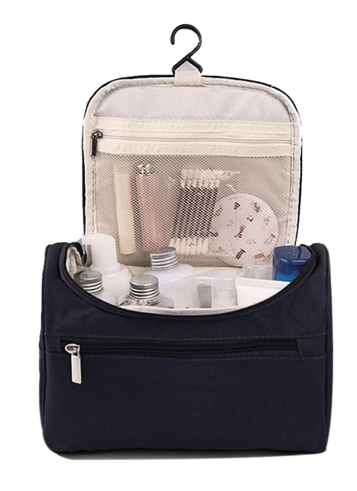Borsa da viaggio per le donne Multifunzione Borse cosmetiche Poliestere Moda Impermeabile Borsa da toilette Organizer per gli uomini (blu navy)
