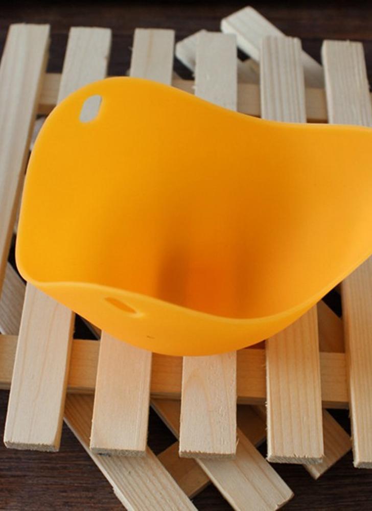 Huevo de silicona Sacacorchos Tazas Huevos Caldera Escurridiza Pocho Cup Pods Mold Cookware Kitchen Tool Tazas de panqueque para hornear (naranja)