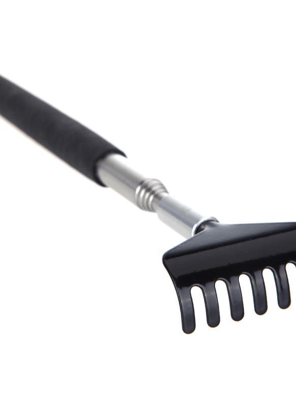 Coçador de costas telescópico massajador Metal compacto extensível seção 5 20-68cm preto