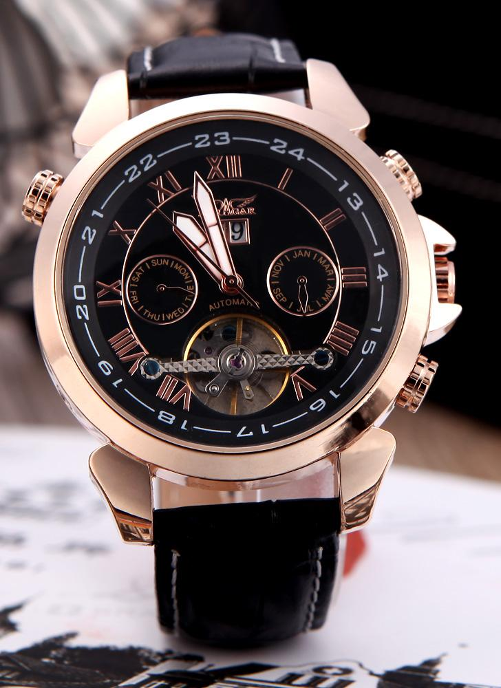 Jaragar Fashion Men's Semi Automatic Mechanical Wrist Sport Watch