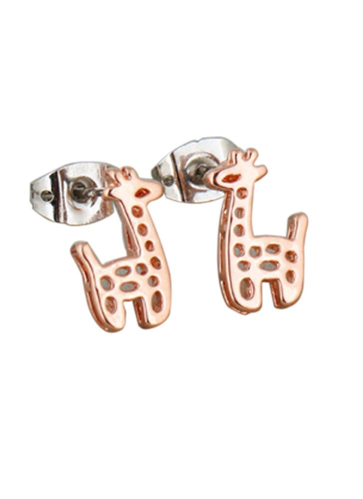 Marron 1paire boucles d 39 oreilles en or 18k girafe animaux for Famous british designers