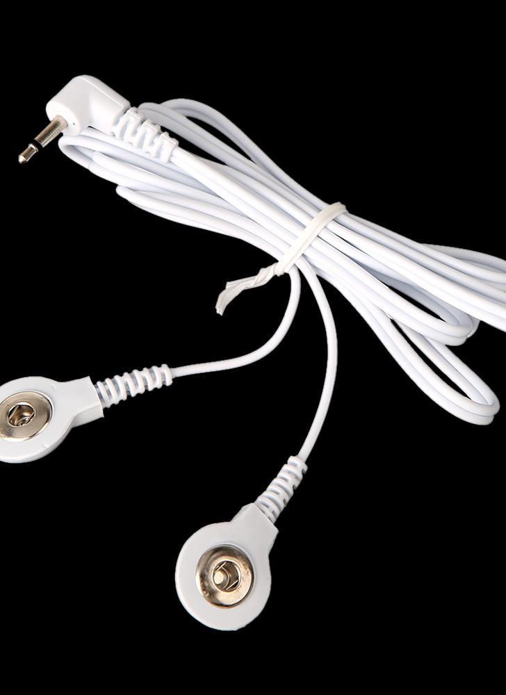 Elektrode Blei Drähte Verbindungskabel mit 2 Tasten für digitale TENS Therapie Maschine Massagegerät 2.5mm Stecker