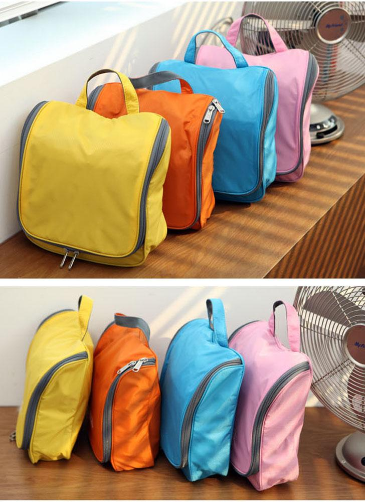 Travel Toiletry Tote Hanging Grooming Zipper Outdoor Multifunction Wash Cosmetic Bag Makeup Storage Organizer Case