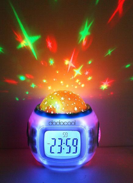 Musique Starry Star Sky Projection Réveil Calendrier Thermomètre