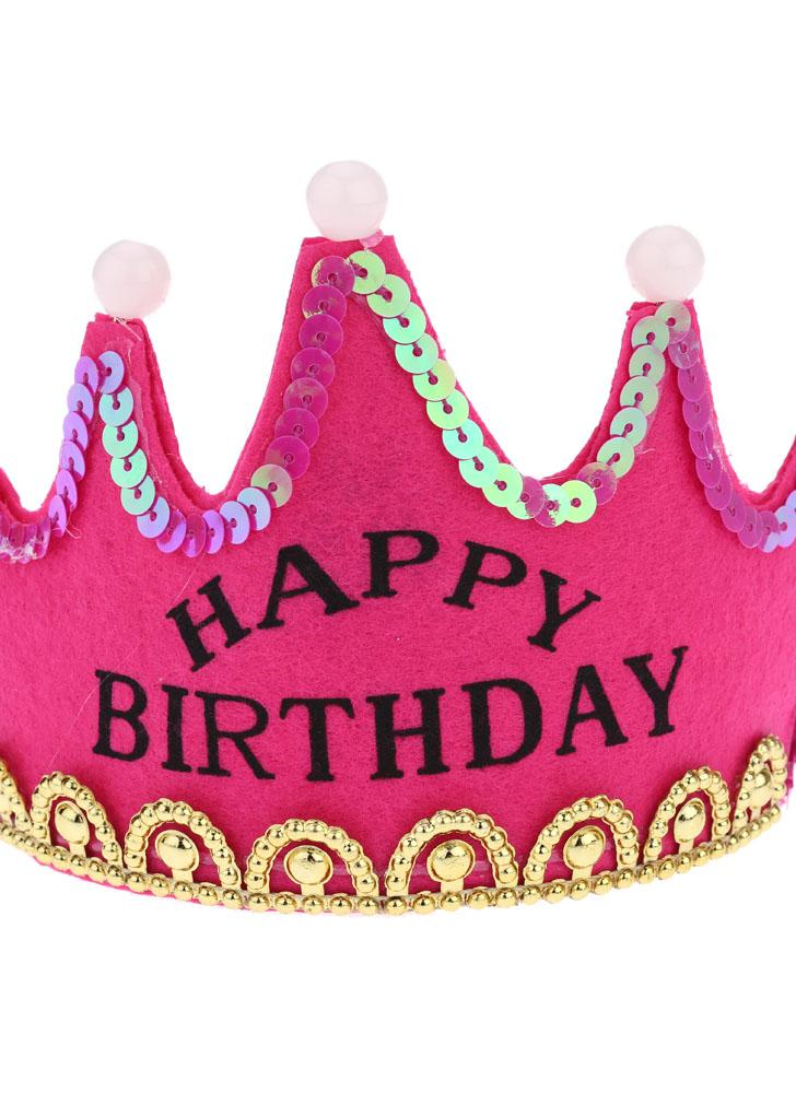 ANSELF Birthday Party Crown Hat Bon anniversaire Head Band Cap avec Led Light Decoration Supply