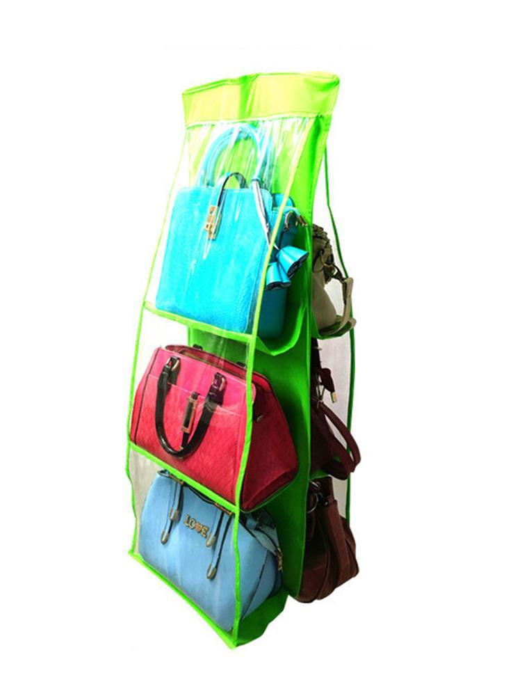 Grande capacidade de armazenamento de tecido não tecido pendurado Perspectiva de várias camadas Anti-dust Household 6 Pocket Closet Rack Hangers