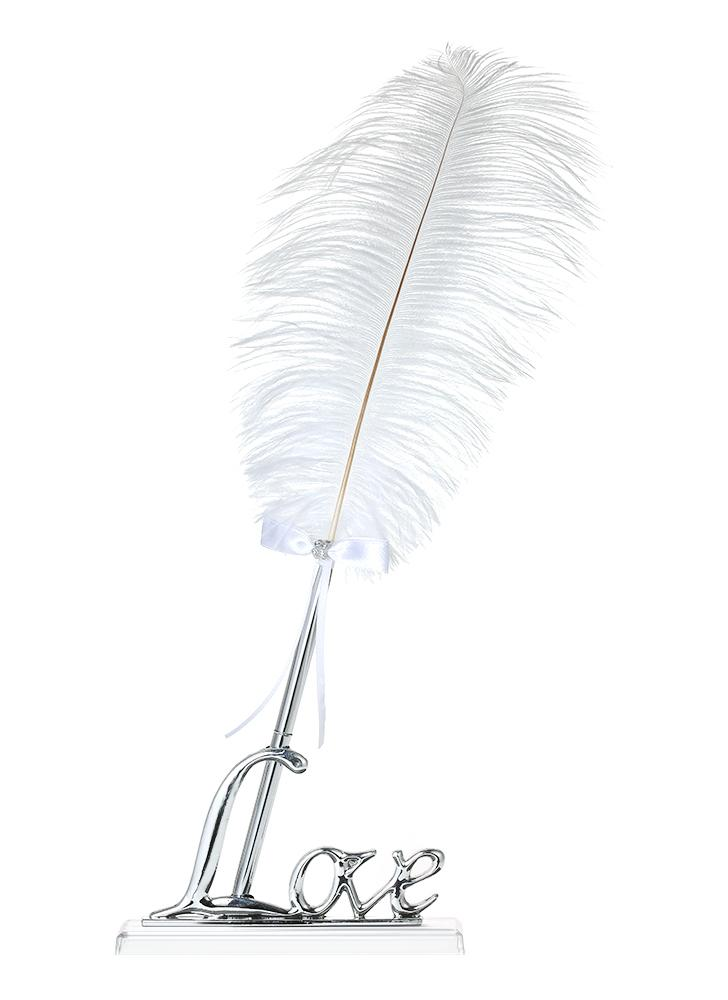 Retro Style White Feather Signing Pen with