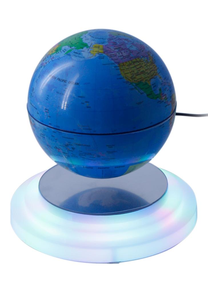 6 magnetic levitating globe floating rotating suspended in air world map globe ball with led lights us plug for home office decoration kids education gifts