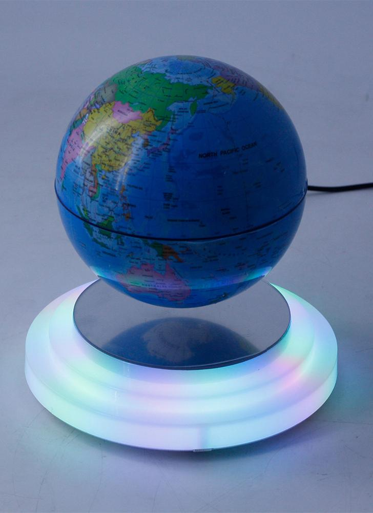 World Map Globe Ball. 6  Magnetic Levitating Globe Floating Rotating Suspended in Air World Map Ball with LED Lights US Plug for Home Office Decoration Kids Education Gifts 1
