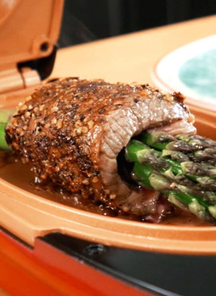 Red Copper 5 Minute Chef fornello elettrico a doppio strato antiaderente Cottura rapida Pentole (connettore U S)