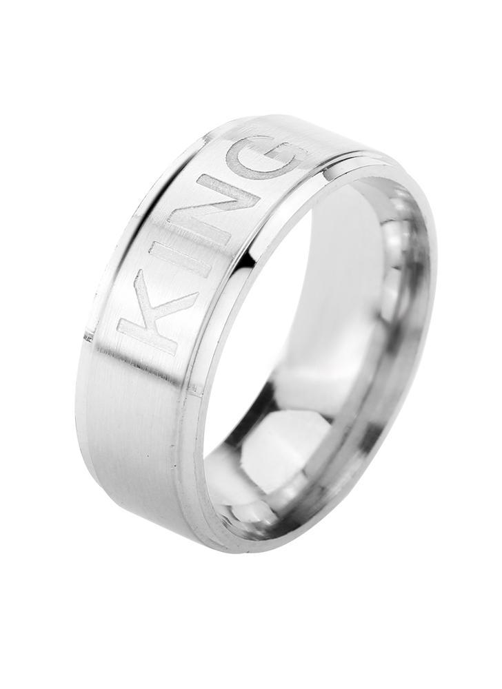 Anillo romántico del REY Ring de la REINA para los anillos de los pares de los amantes