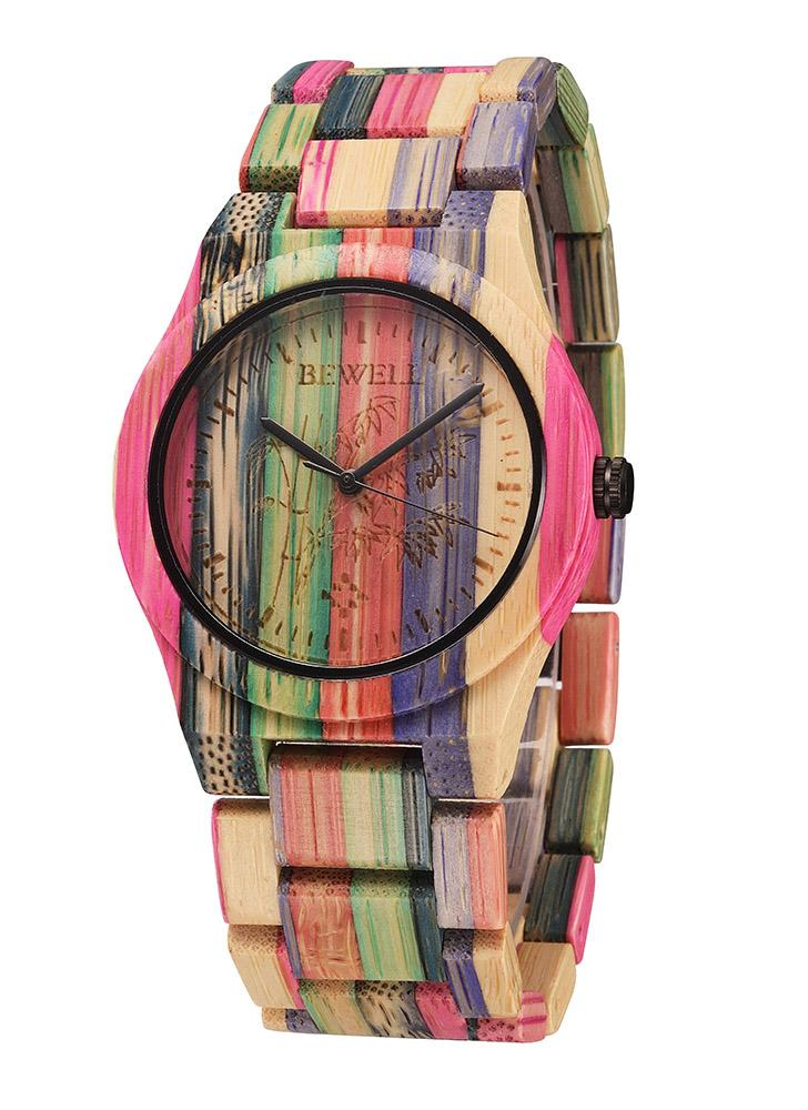 Bamboo Wooden Quartz Wrist Watch