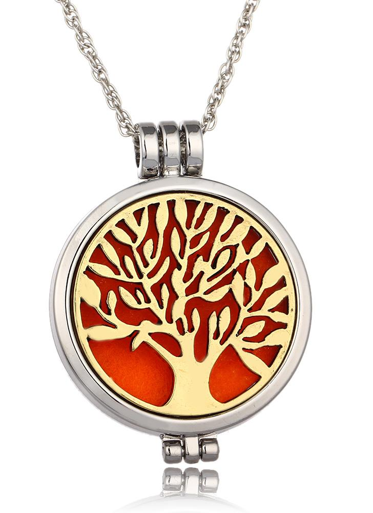 Tree Of Life Lock Pendant Necklace For Women