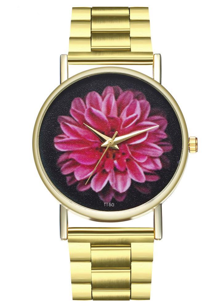 Pulseras de lujo de moda para hombre reloj simple pulsera de correa de acero inoxidable dorado analógico reloj de pulsera de cuarzo Relogio Feminino