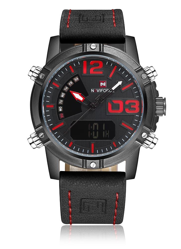 NAVIFORCE nuevo reloj de cuarzo digital de los hombres de la exhibición de Digitaces