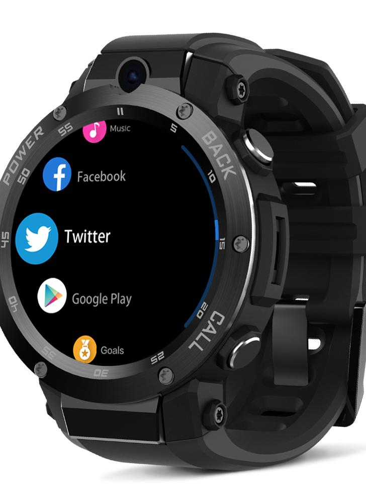 "Zeblaze Android 5.1OS 3G Smart Watch Teléfono 1.3GHz Quad Core CPU ROM y memoria RAM Nano SIM Card 1.39 ""Super AMOLED Pantalla táctil GSM & WCDMA Wifi BT 4.0 GPS Podómetro Heart Rate Smartwatch para iOS 9.0 y Android 5.0"