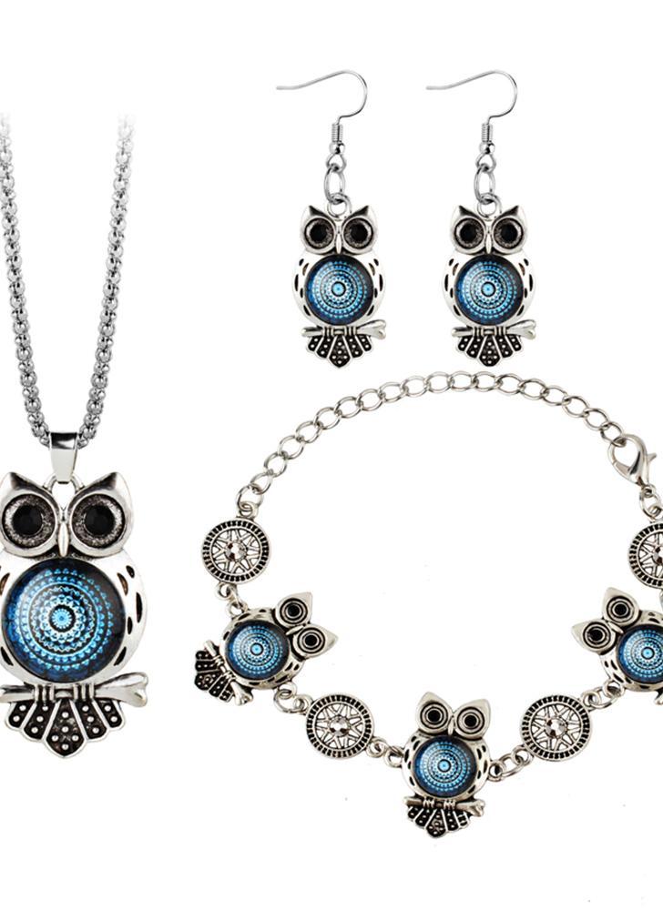 3 Fashion Retro Bohemian Style Owl Elephant Three Pieces
