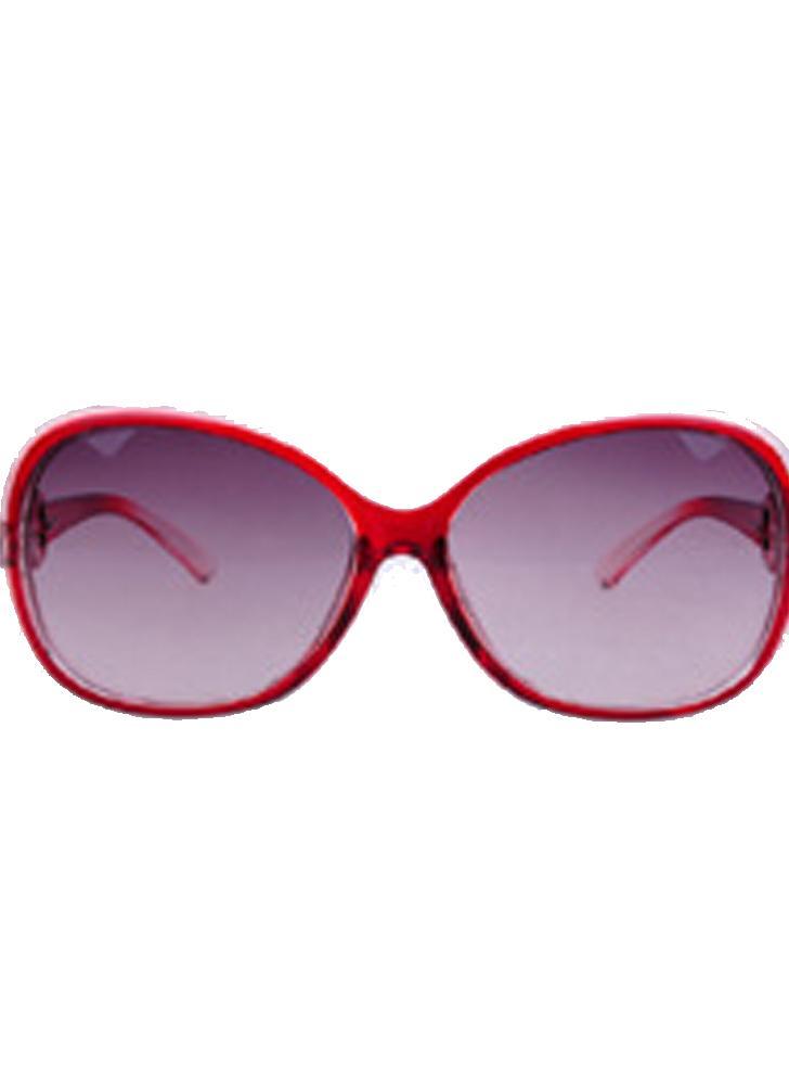 Red Copper Film-Rimmed Европа и американские новые женские модные солнцезащитные очки Jade Texture Gradient Sun Glasses