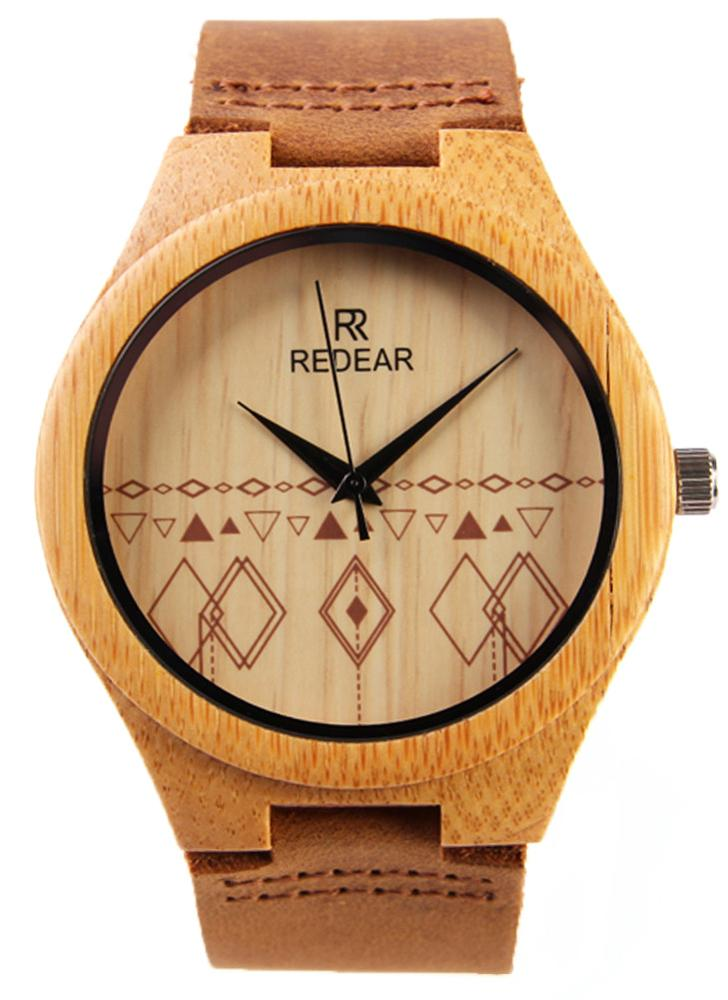 REDEAR Bamboo Water Resistant Simplicity Watch