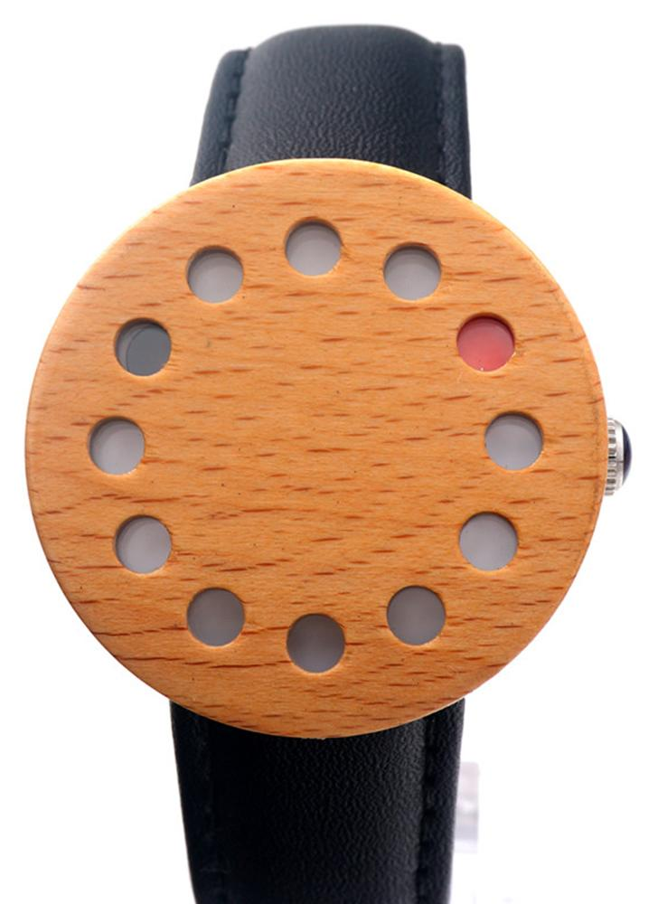 Reloj de pulsera de cuarzo unisex BOBOBIRD Fashion Casual Wooden Watch