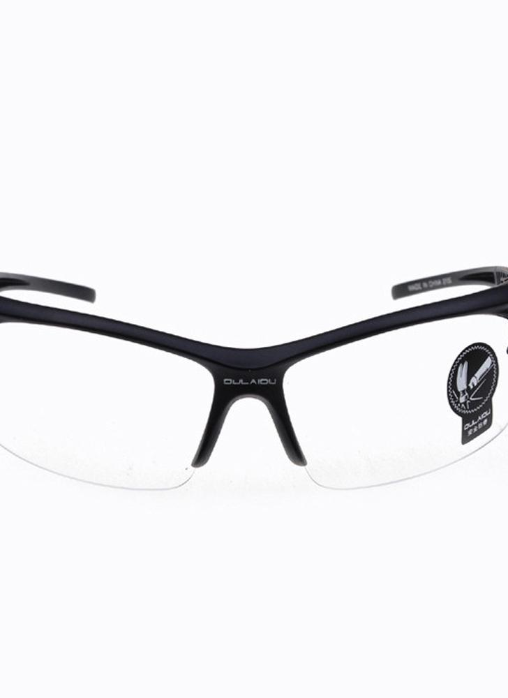 Black Glasses Frames White Lens Windproof Dust-proof Explosion-proof Anti-UV Outdoor Cycling Electromobile Motorcycle Man's Sunglasses