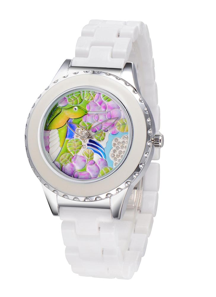 26457e2c126 Relógio de quartzo ASJ de forma original fresco Marca da mulher Feminino  cerâmica banda liga relógio