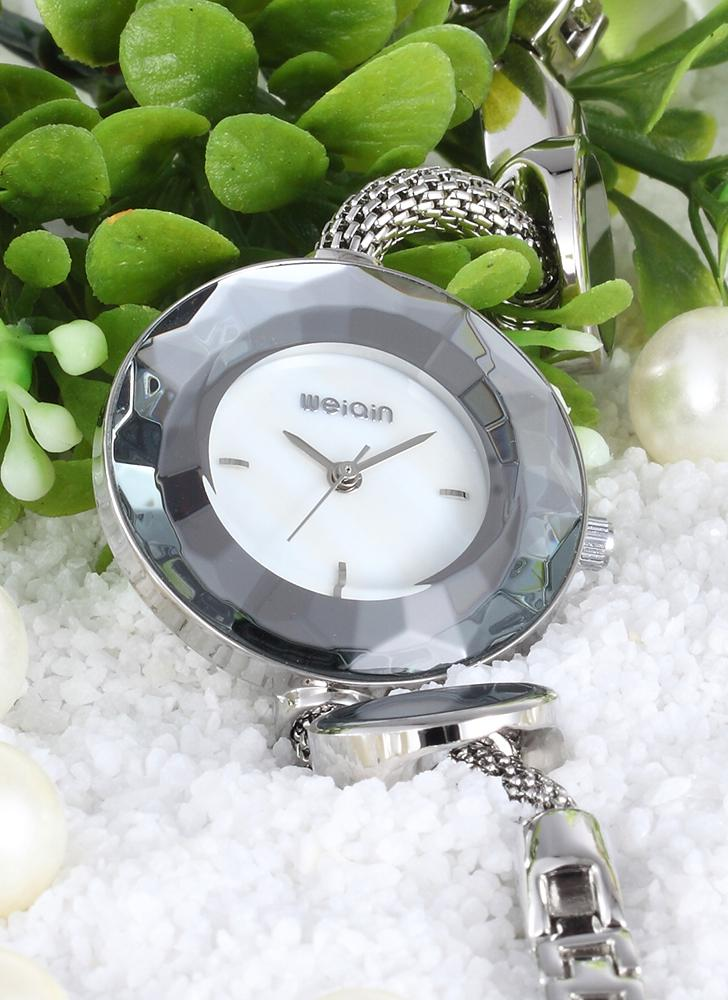 WEIQIN Luxury Quartz Women Simplicity Stainless Wristwatch Decorative Watch