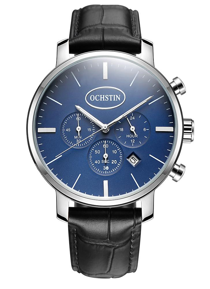OCHSTIN Luxus Luminous Ultra Thin Quarz Herren Military Watch