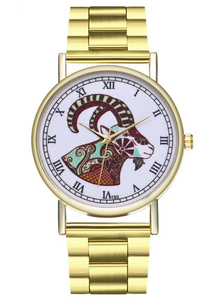 b09bfca9bcd Pulseiras de luxo Moda Feminina Homens Relógio Simples de Ouro Pulseira de Aço  Inoxidável Pulseira de