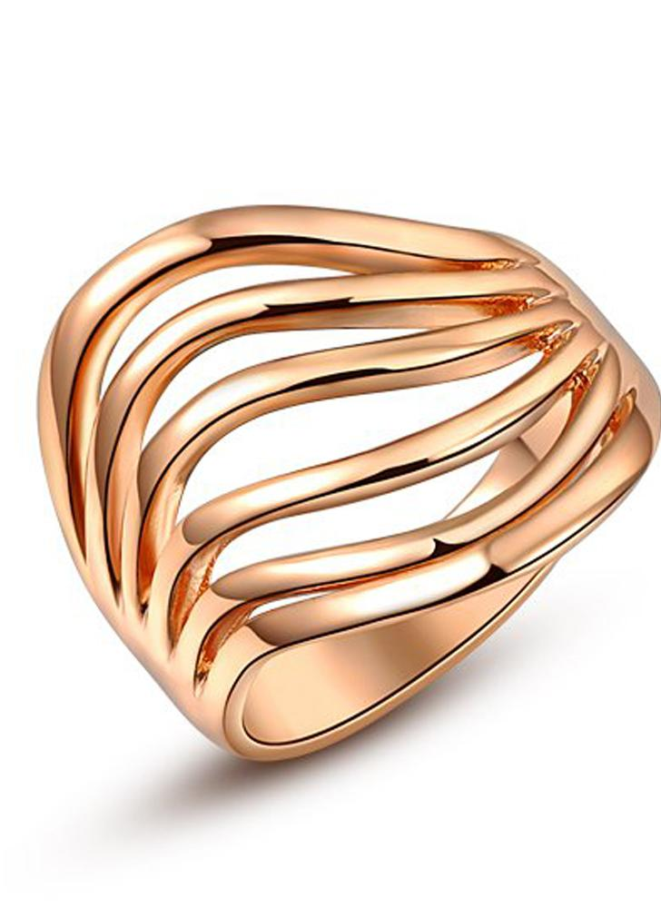 Roxi New Hot Fashion Unique Gold Plated Classic Ring Jewelry for Women Wedding Engagement Gift Girls Party
