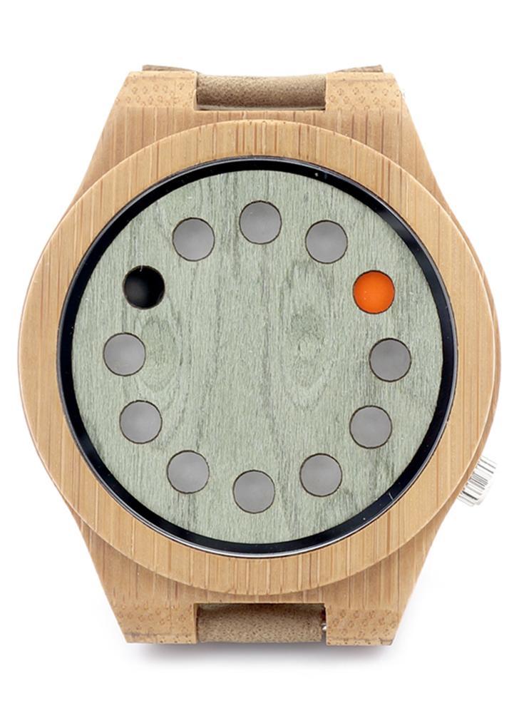 BOBOBIRD Fashion Casual Bamboo Watch Unisex Quartz Watch