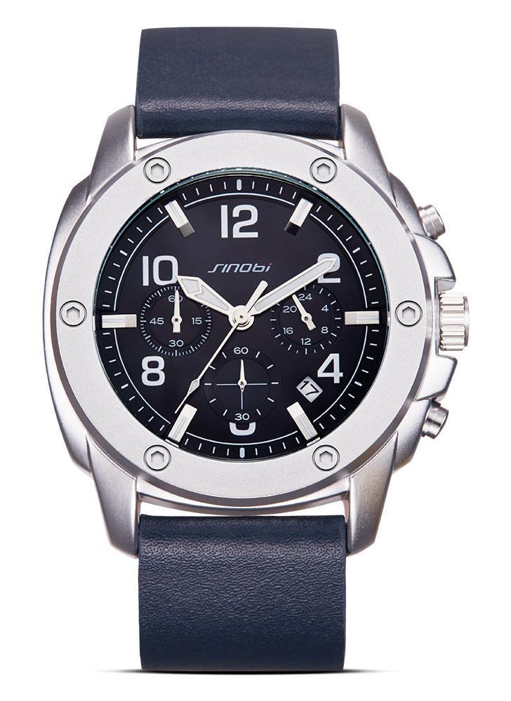 4e2351a49d9 SINOBI Fashion Casual Relógio de quartzo 3ATM Relógios impermeáveis para  homens