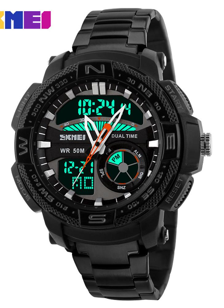 SKMEI Analog-Digital LED Display Sports Multifunction Man Relógio de pulso