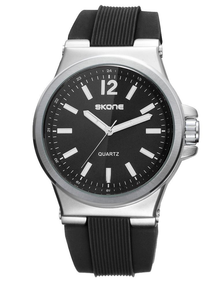 ef2e3e570fb SKONE Fashion Silicone Quartz Analog Luminous Men Relógios