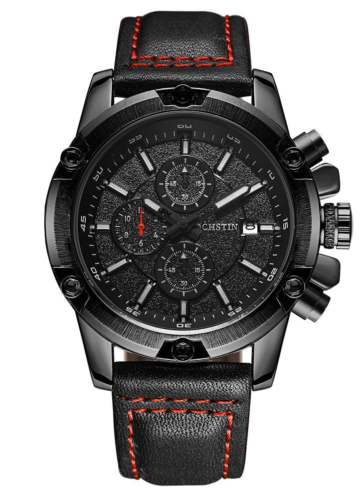Herren Military Luminous Quarz-Armbanduhr