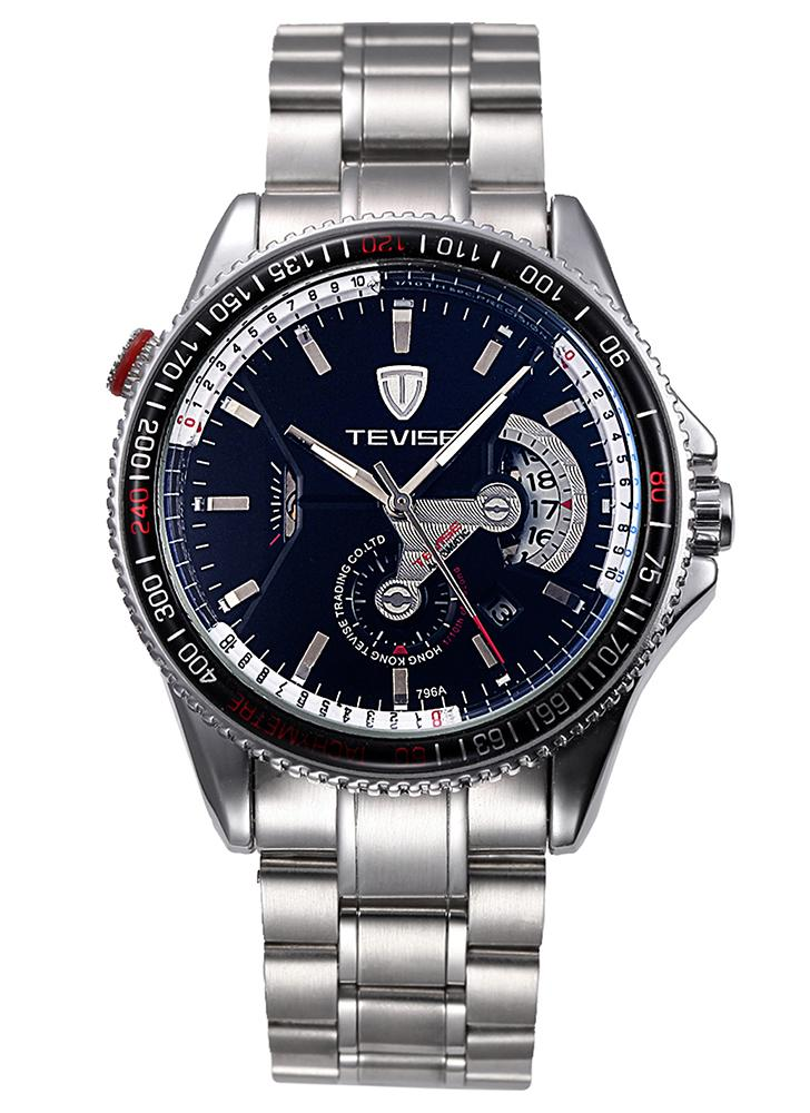 TEVISE Brand  Automatic Mechanical Luminous Stainless Steel Men Watch