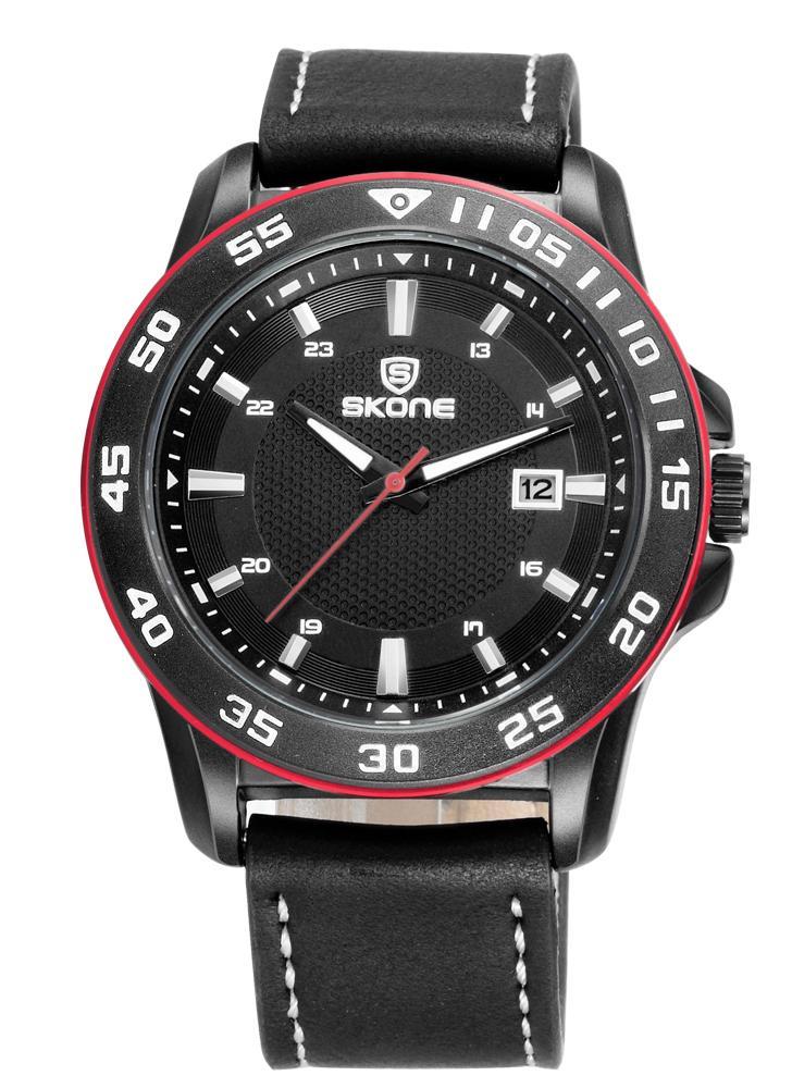 SKONE Moda relojes de moda 3ATM hombres resistente al agua reloj de cuarzo