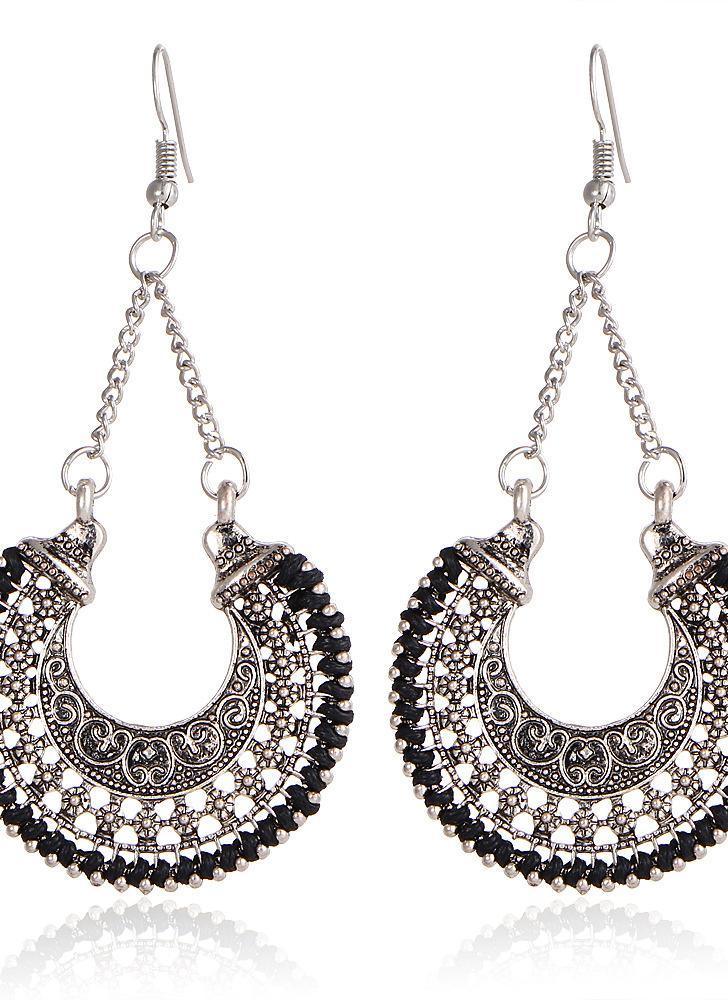 Moda Retro Mulheres Vintage Hollow Flower Basket Charm Drop Earrings