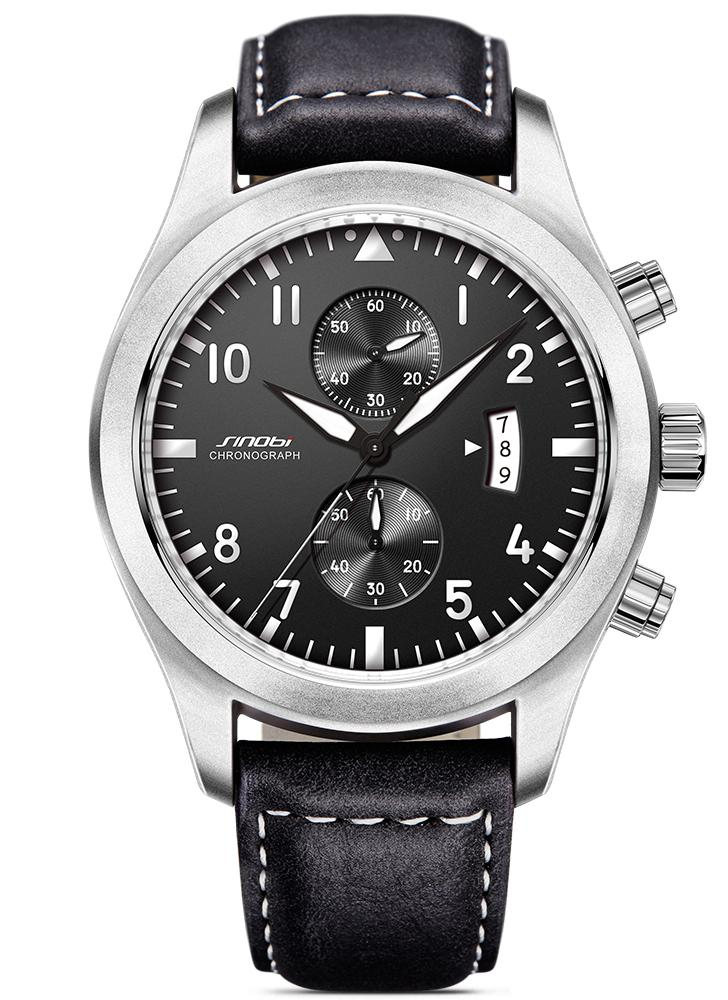 SINOBI moda casual reloj de cuarzo vida resistente al agua hombres relojes luminosos reloj de pulsera masculino Relogio Musculino calendario temporizador