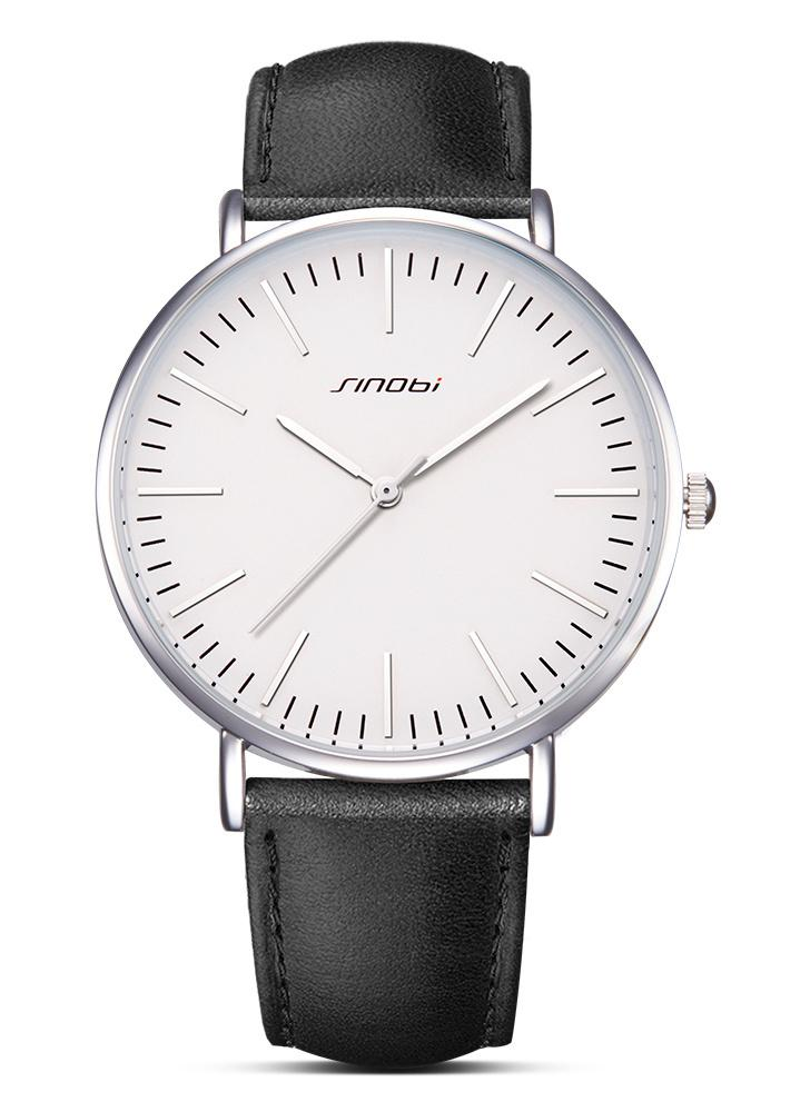 dea6370f173 SINOBI Relógios de quartzo homens 3ATM Relógio de pulso resistente à água